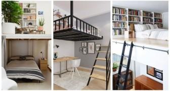 Camera da letto piccola ma con soffitti alti? Fai spazio arredandola con fantastici letti a soppalco