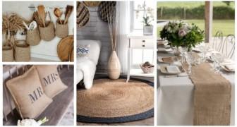 Accessoires en jute : de nombreuses idées pour décorer la maison avec des détails rustiques fantastiques