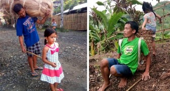 Dit 5-jarige meisje gaat elke dag met haar blinde vader op de plantages werken