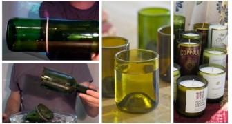 Vuoi tagliare una bottiglia di vetro? Puoi farlo in pochissimo tempo con uno spago