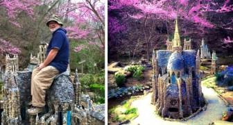 Una coppia di pensionati ha realizzato un giardino da favola con più di 80 edifici in miniatura