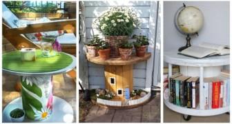 Vous voulez vous lancer dans de simples travaux DIY ? Construisez des meubles originaux en recyclant les bobines en bois