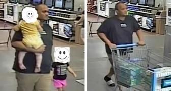 La polizia chiede agli utenti di riconoscere l'uomo che ha rubato i pannolini, ma tutti si offrono di pagare per lui