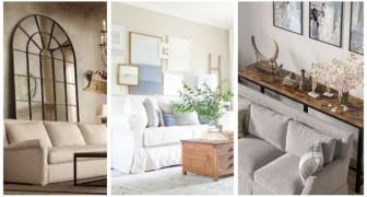 Rendez votre salon plus sympa en décorant le mur derrière le canapé avec goût