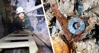 Jongen vindt een 100 jaar oude spijkerbroek van Levi's: het bevond zich in een verlaten mijn