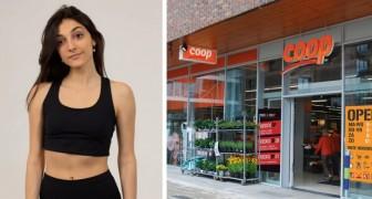 """Ze laten haar niet toe in de supermarkt vanwege haar sportieve kleding: """"Het topje is te kort"""""""