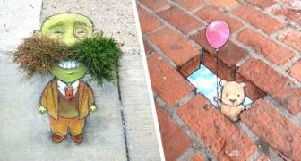 Deze kunstenaar animeert de straten van steden door personages en scènes te tekenen die ons doen dromen
