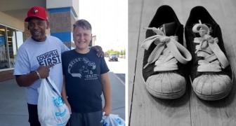 Ha solo 20 $ da spendere per le scarpe per il figlio, ma un uomo generoso si offre di comprargliele