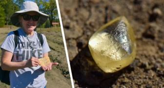 Frau findet Stein in öffentlichem Park und entdeckt dann, dass es sich um einen 4-karätigen gelben Diamanten handelt