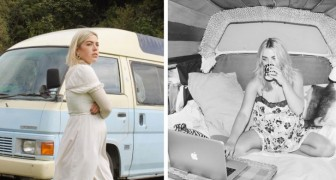 Ze woont in een busje om de huur niet te betalen en ontdekt dat ze meer dan 13.000 euro per jaar bespaart