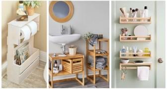 Devi fare spazio in bagno? Prova con soluzioni pratiche come queste