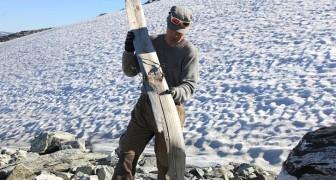 En förhistorisk skida har hittats i Norge: den är 1300 år gammal och perfekt bevarad