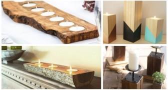 Portacandele di legno: lasciati ispirare da qualche idea per realizzarne con tronchi e legno di recupero