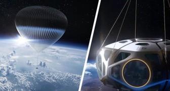 Un'azienda statunitense presenta i suoi viaggi nello spazio in mongolfiera