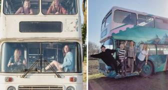 4 vrouwen toverden een oude dubbeldekker om tot een volledig uitgerust mobiel hostel