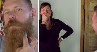 Se corta la barba después de 8 años y deja a todos asombrados: incluso la mujer ahora tiene dificultad en reconocerlo