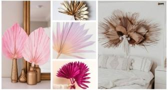 Decorazioni eleganti senza spendere troppo? Usa le foglie secche delle palme per arredare con originalità