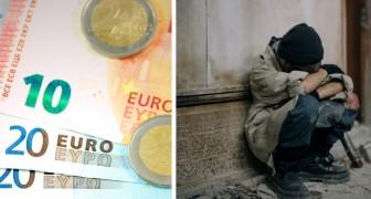 """Unbekannter lässt einen 10-Euro-Schein vor dem Café zurück, in dem er gestohlen hatte: """"Entschuldigung, ich hatte kein Geld und war hungrig."""""""