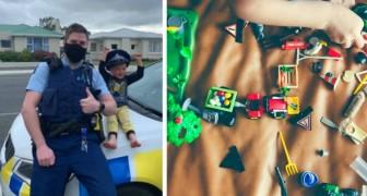 Un bimbo di 4 anni chiama la polizia perché vorrebbe mostrar loro i suoi giocattoli: un agente lo accontenta (+VIDEO)