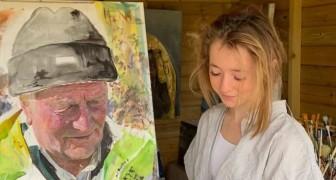 Während des Lockdowns begann sie zu malen: Heute stellt sie ihre Werke in einer Galerie aus und hat eine Leinwand für 10.000 Pfund verkauft.
