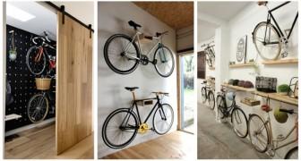 Crea uno spazio dove riporre le bici in garage costruendo questi pratici supporti per sfruttare lo spazio