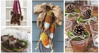 Pigne di ogni forma e dimensione per decorare la casa: lasciati ispirare da queste idee creative