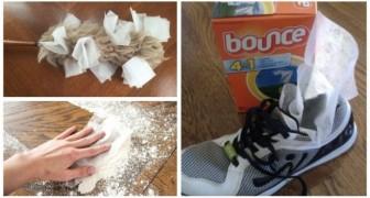 Fogli di ammorbidente per l'asciugatrice: scopri in quanti modi puoi usarli in casa