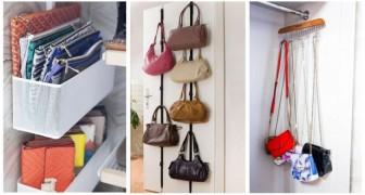 Non trovi mai la borsa che ti serve? Fai ordine nel guardaroba con qualche soluzione brillante