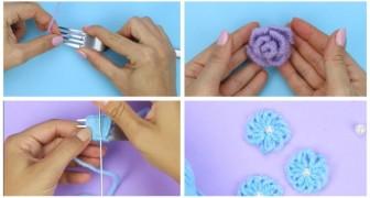 Divertiti a creare dei fiori di lana usando semplicemente delle forchette (+ VIDEO)