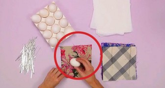 She starts by wrapping eggs in silk: here's an idea that will amaze your guests