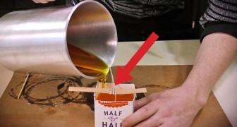 Ecco come creare qualcosa di creativo usando la cera e il cartone del latte