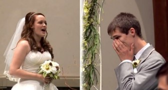 While waiting for his bride at the altar, he receives a surprise that will make him cry