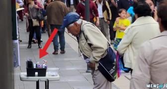 Organizan y exhiben un puesto callejero: el comportamiento de los transeuntes es increible