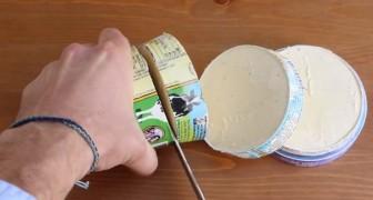 Tagliare a fette una scatola di gelato può sembrare assurdo, ma il risultato è SQUISITO!