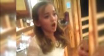 Eine Freundin überredet sie zu singen: Ihre Version des Songs von Adele ist EPISCH