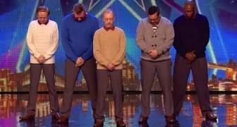 5 nicht mehr ganz junge Männer kommen auf die Bühne: Was dann kommt, ist eine ÜBERRASCHUNG für alle!