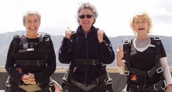 Deze 3 vrouwen zijn circa 70 jaar oud en staan op het kunt een wens te vervullen.. kippenvel!