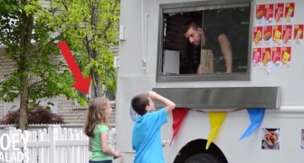 A fake ice cream man invites them to get on the van: the reaction of this young girl is brilliant !