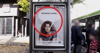 Attaccano dei cartelloni alla fermata del bus... ciò che avviene in poco tempo è sconvolgente.
