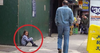 A little girl is lost on the road: what this man tries to do is shocking !