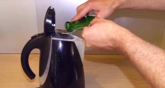 Euer Wasserkocher ist verkalkt? Das ist ein einfacher Trick, um ihn wieder zum Glänzen zu bringen
