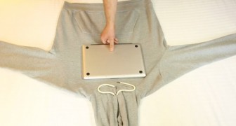 He wraps a sweatshirt around his laptop: here's a tricks that you couldn't live without!