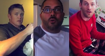 Their partner is pregnant: the reactions of these men is very emotional