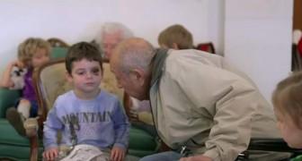 Niños y ancianos en un geriatrico interactuan con optimos resultados