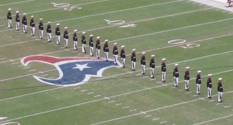 24 soldiers are in position : their performance is FLAWLESS
