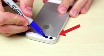 Il met du scotch sur son iPhone et le colore : ce qu'il voit ensuite est incroyable!