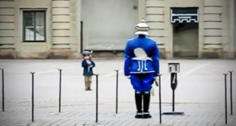 A guard notices that a child is imitating him, so he decides to have some fun...