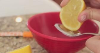 Inizia spremendo un limone e vi mostra il trucco per un sorriso BRILLANTE... in soli 2 minuti!
