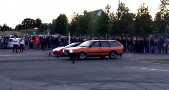 Ils organisent une compétition entre une Ferrari et une vieille Passat : le résultat vous surprendra!