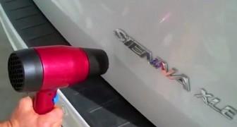 Een garagehouder zal dit nooit vertellen, maar er bestaat een TRUC om je auto zelf uit te deuken...